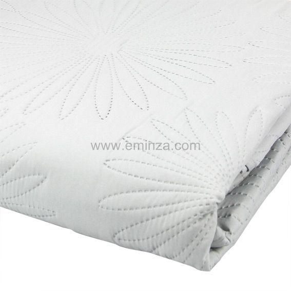 Couvre lit matelass neptune gris perle couvre lit - Maison gris perle ...