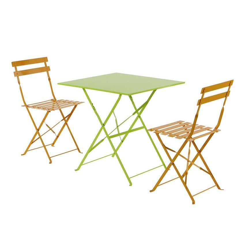 table de jardin pliante m tal camargue 70 x 70 cm granny table de jardin eminza. Black Bedroom Furniture Sets. Home Design Ideas