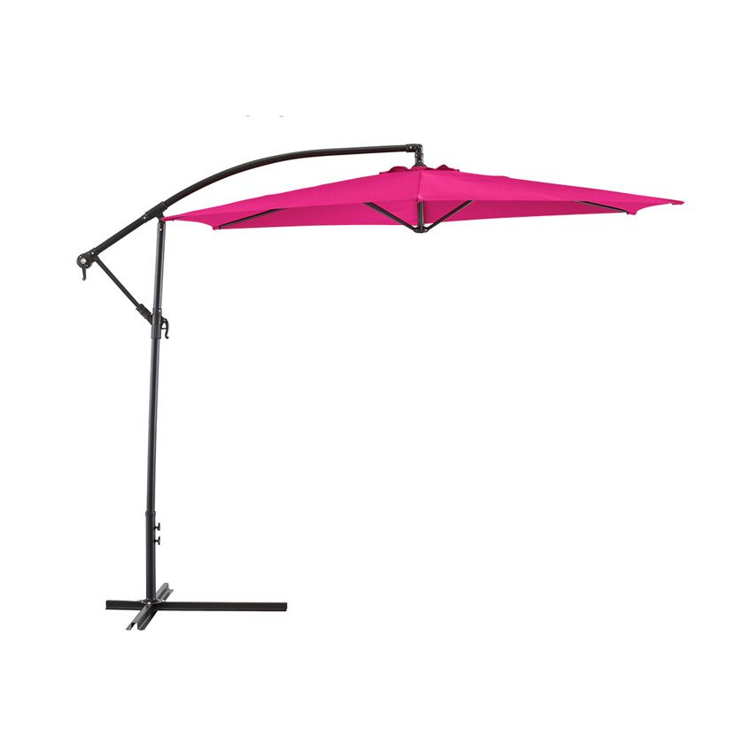 parasol d port rond hawai d300 cm framboise parasol d port eminza. Black Bedroom Furniture Sets. Home Design Ideas