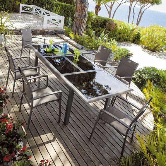 Salon De Jardin Azua. Best Table De Jardin Extensible Azua Pictures ...