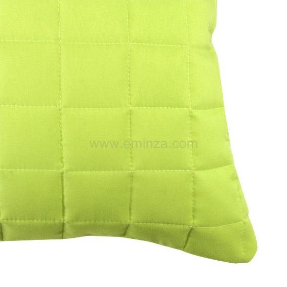housse de coussin boutis 60 cm venus vert anis coussin et housse de coussin eminza. Black Bedroom Furniture Sets. Home Design Ideas