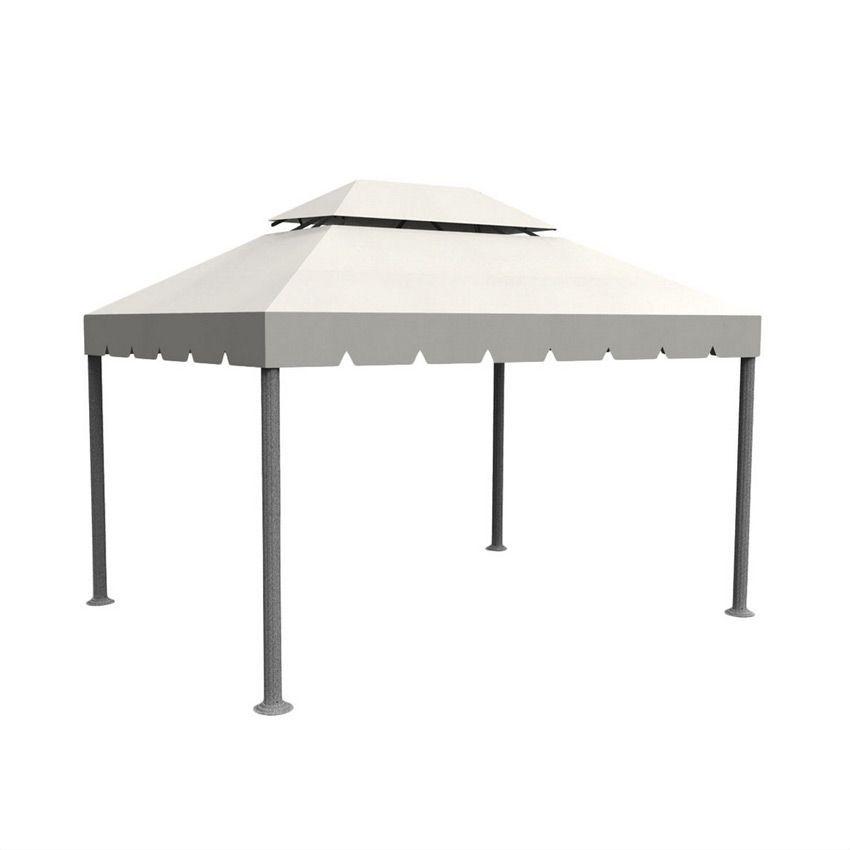 toile de tonnelle napoli 3 x l4 m ecru structure. Black Bedroom Furniture Sets. Home Design Ideas