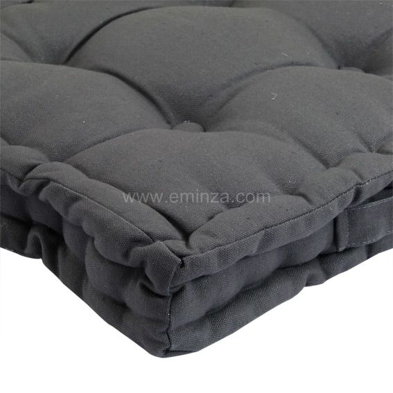 coussin de sol 40 cm gris anthracite coussin de sol et. Black Bedroom Furniture Sets. Home Design Ideas