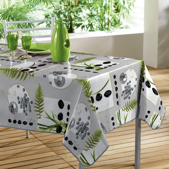nappe cir e rectangulaire l240 cm jardin zen linge de table eminza. Black Bedroom Furniture Sets. Home Design Ideas