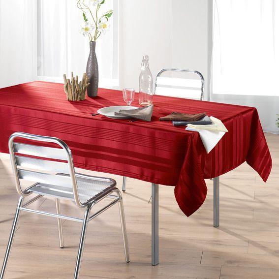 nappe rectangulaire jacquard damass rouge. Black Bedroom Furniture Sets. Home Design Ideas
