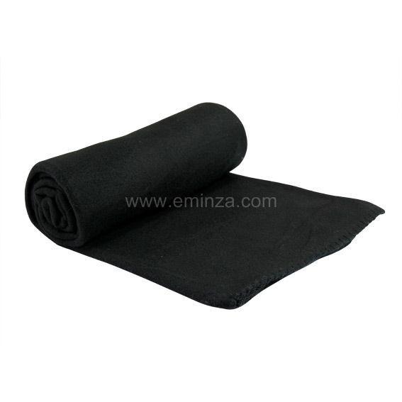 plaid polaire douillet noir plaid cocooning eminza. Black Bedroom Furniture Sets. Home Design Ideas