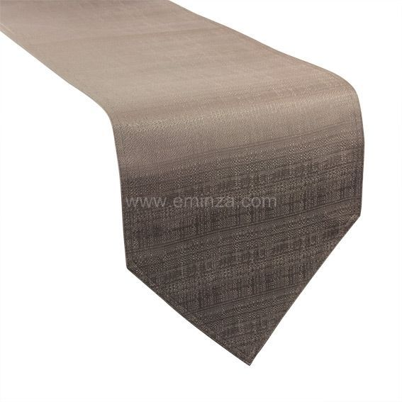 Chemin de table trendy taupe chemin de table eminza - Tissu pour chemin de table ...