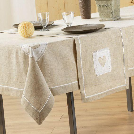 chemin de table mont blanc lin brod chemin de table eminza. Black Bedroom Furniture Sets. Home Design Ideas