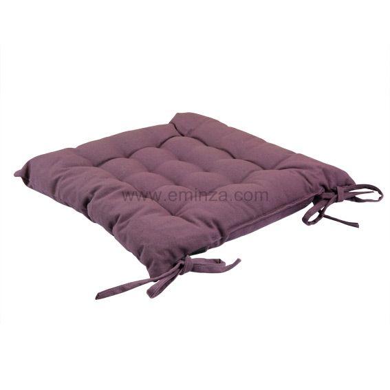 coussin de chaise lina prune galette et coussin de chaise eminza. Black Bedroom Furniture Sets. Home Design Ideas
