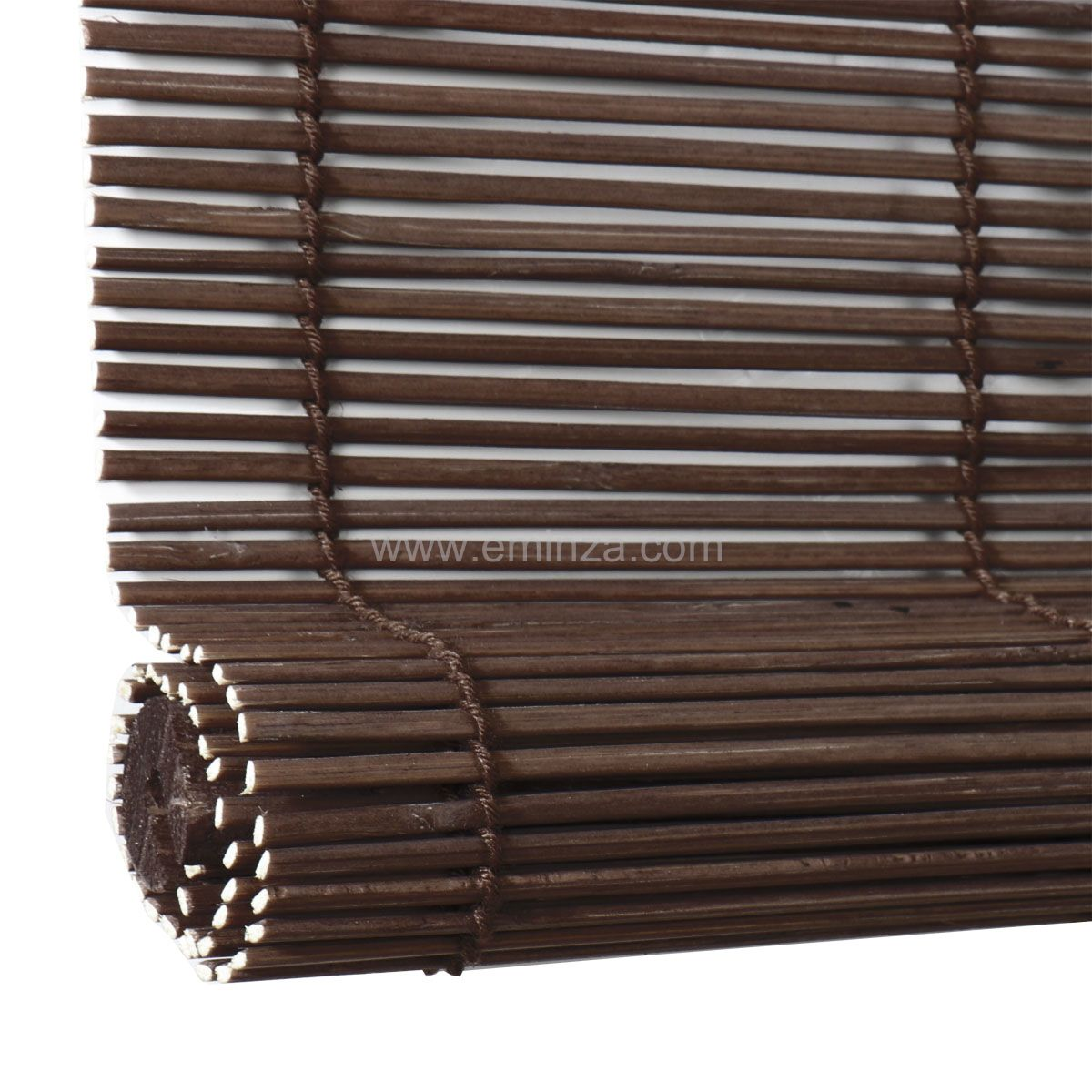 store enrouleur baguettes 40 x 90 cm bambou chocolat store enrouleur eminza. Black Bedroom Furniture Sets. Home Design Ideas
