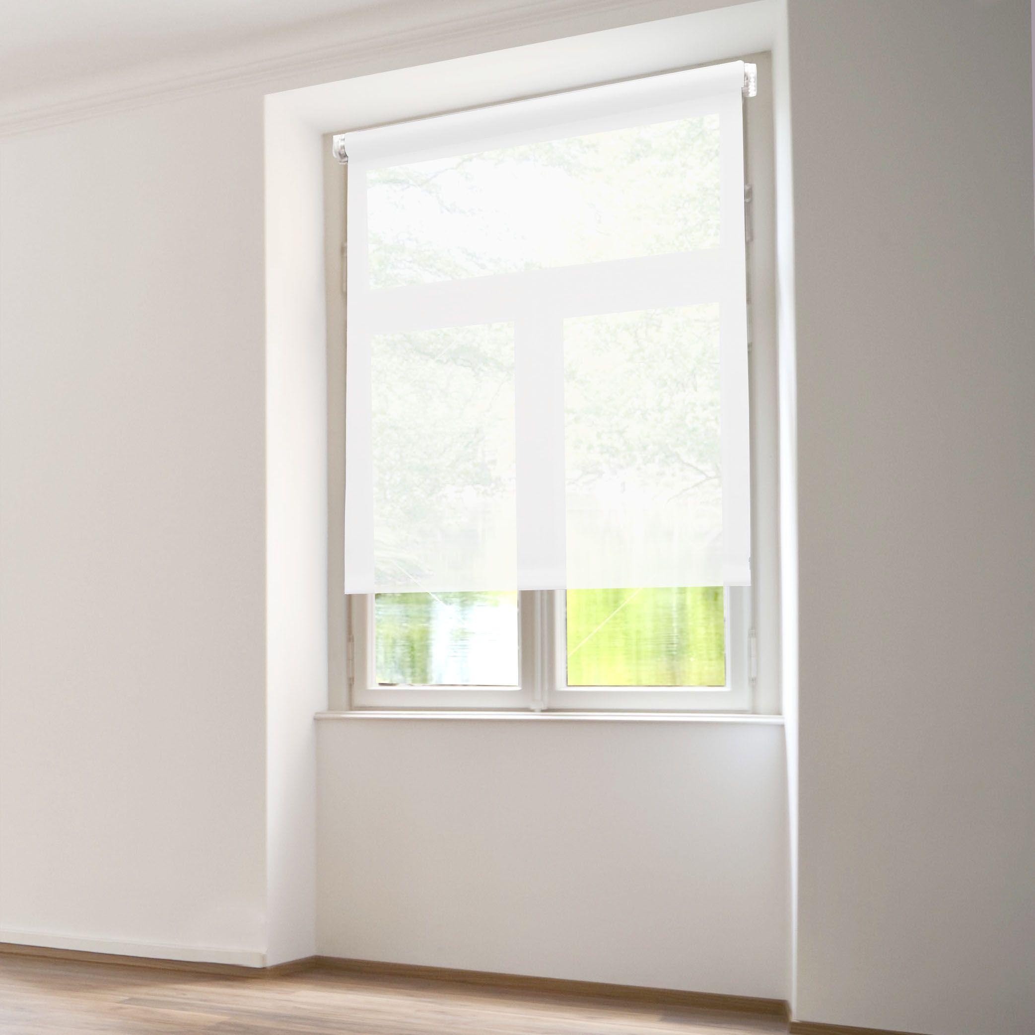 store enrouleur tamisant 60 x h90 cm uni blanc store int rieur eminza. Black Bedroom Furniture Sets. Home Design Ideas