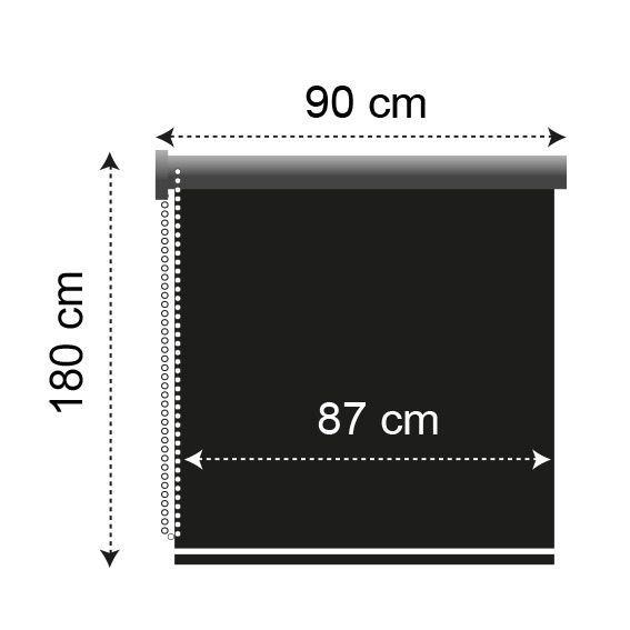 store enrouleur tamisant 90 x h180 cm taupe store int rieur eminza. Black Bedroom Furniture Sets. Home Design Ideas