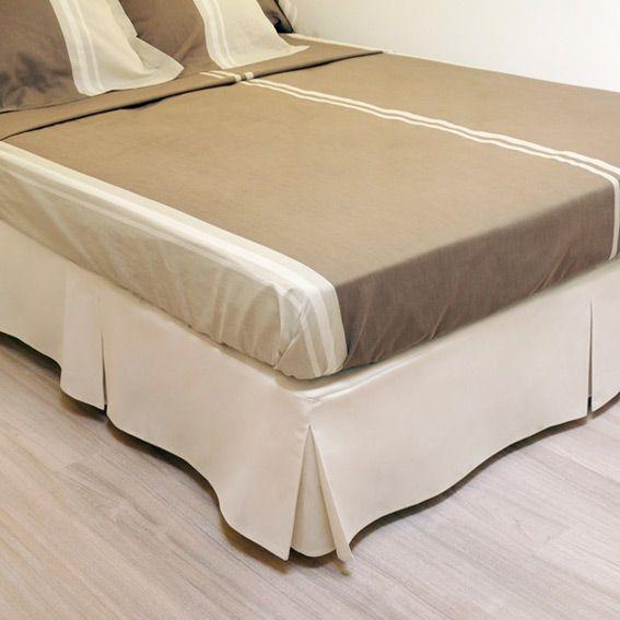 Cache sommier 140 cm beige linge de lit eminza for Beige ka che