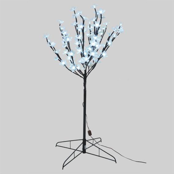 Cerisier lumineux lina h180 cm blanc froid arbre - Arbre lumineux exterieur noel ...