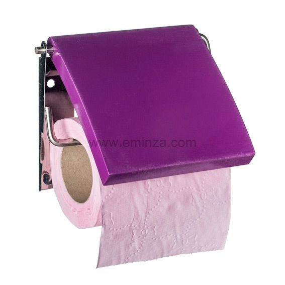 porte papier toilettes uni violet porte papier toilette eminza. Black Bedroom Furniture Sets. Home Design Ideas