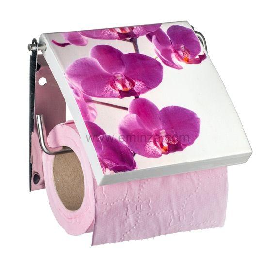 porte papier toilettes florale violet porte papier. Black Bedroom Furniture Sets. Home Design Ideas