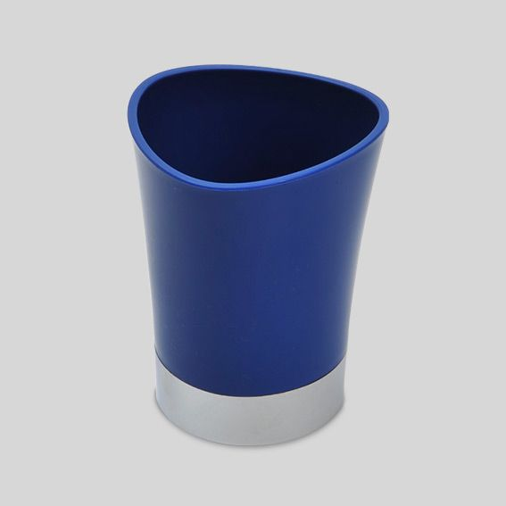 Gobelet happy bleu porte brosse dents eminza - Brosse a dent bleu blanc rouge ...