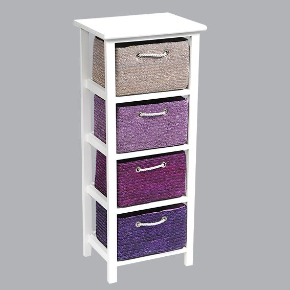 meuble panier en paille violet meuble d co eminza. Black Bedroom Furniture Sets. Home Design Ideas