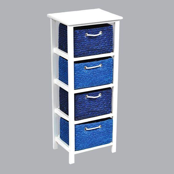 meuble panier bleu meuble d co eminza. Black Bedroom Furniture Sets. Home Design Ideas