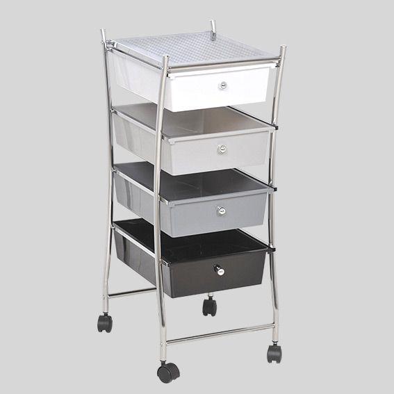 meuble sur roulette utilo gris meuble eminza. Black Bedroom Furniture Sets. Home Design Ideas