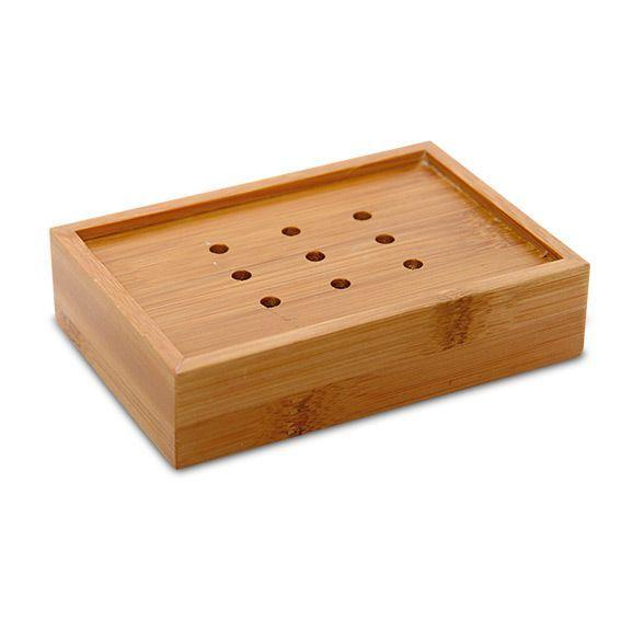 Porte savon ecobio bois bambou porte savon eminza for Porte savon salle bain rouge