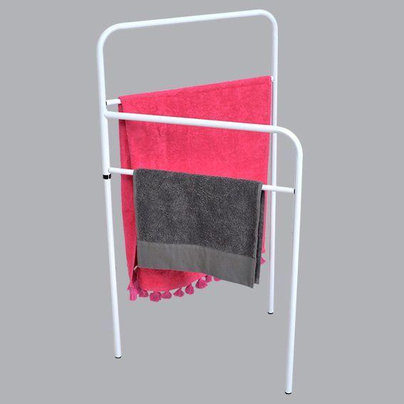 porte serviette sur pied 4 barres blanc porte serviette. Black Bedroom Furniture Sets. Home Design Ideas