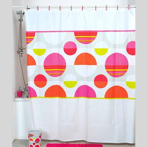Rideau de douche pop multicouleur rideau de douche eminza for Salle de bain pop