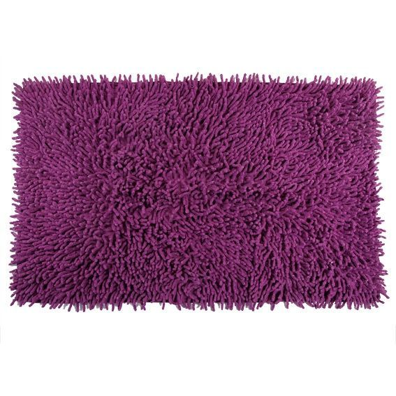 tapis de bain chenille violet tapis salle de bain eminza. Black Bedroom Furniture Sets. Home Design Ideas