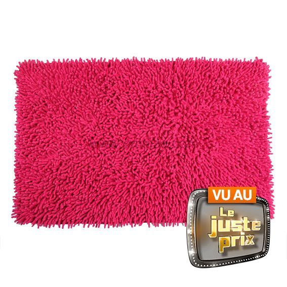 tapis salle de bain chenille rose. Black Bedroom Furniture Sets. Home Design Ideas