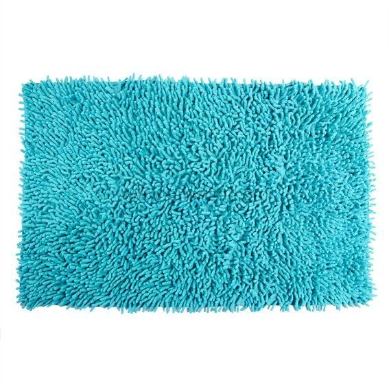 tapis de bain chenille turquoise bleu tapis salle de bain eminza. Black Bedroom Furniture Sets. Home Design Ideas