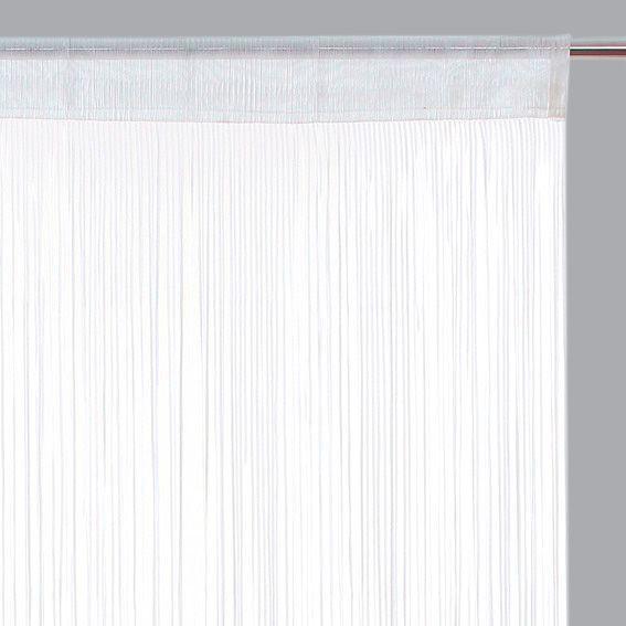 rideau de fil 90 x h200 cm ruban blanc rideau et. Black Bedroom Furniture Sets. Home Design Ideas