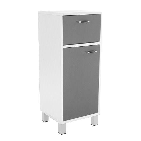 Meuble bas de salle de bain dinamo gris meuble bas eminza for Meuble bas salle de bain gris