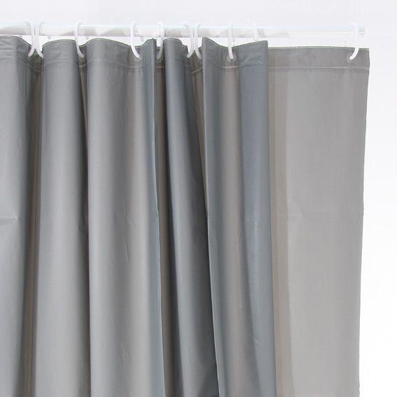 rideau de douche uni gris premium rideau de douche eminza. Black Bedroom Furniture Sets. Home Design Ideas