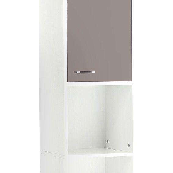Meuble colonne salle de bain dinamo taupe colonne eminza for Colonne de salle de bain taupe