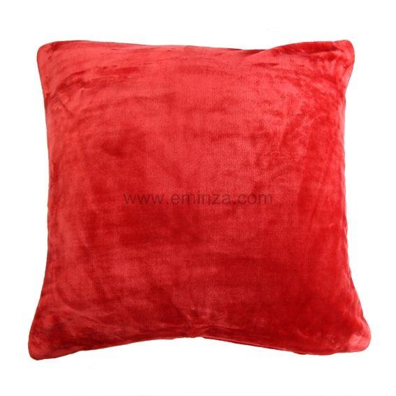 Housse de coussin 60 cm doudou rouge coussin et housse for Housse coussin rouge