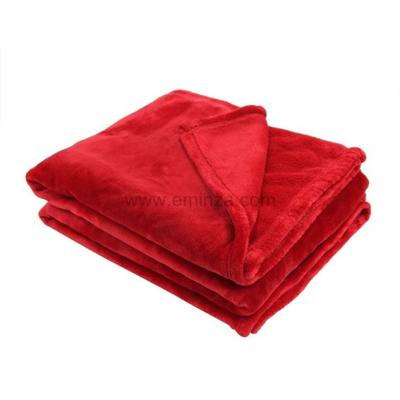 plaid polaire 220 cm doudou rouge plaid fausse. Black Bedroom Furniture Sets. Home Design Ideas