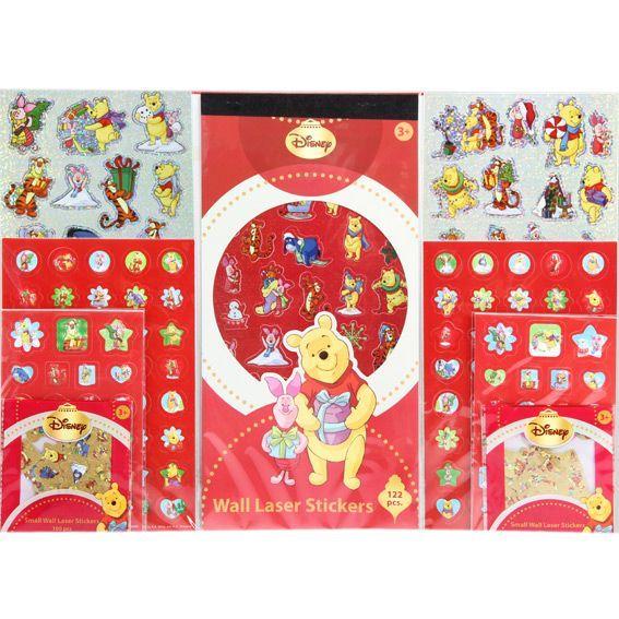 Lot de stickers disney winnie l 39 ourson emballages - Winnie l ourson noel ...
