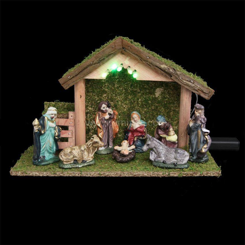 Cr che de no l lumineuse compl te sainte lucie cr che for Decoration fenetre creche