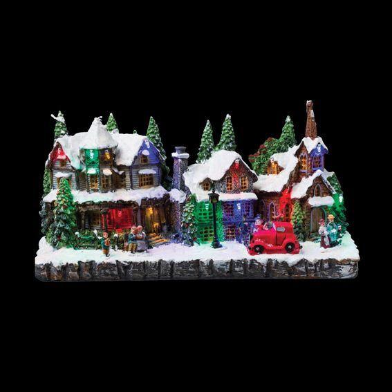 Idee Deco noel lumineux : Village de Noël - Village lumineux, Personnage, Accessoire - Eminza