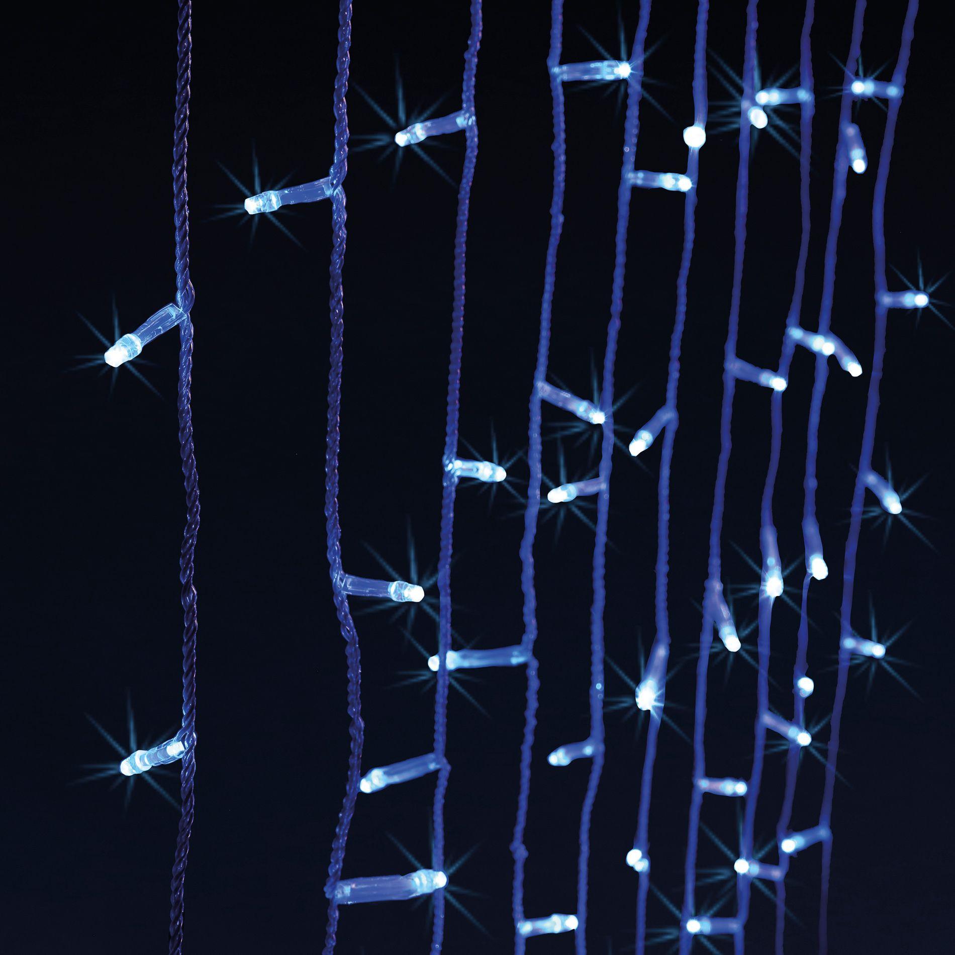 rideau lumineux h1 40 m bleu 150 led guirlande lumineuse eminza. Black Bedroom Furniture Sets. Home Design Ideas