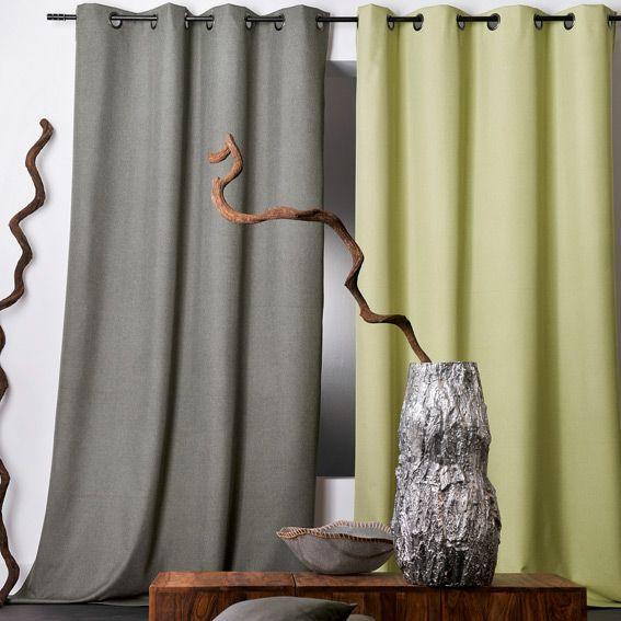 rideau occultant 140 x h240 cm oxford bordeaux rideau occultant eminza. Black Bedroom Furniture Sets. Home Design Ideas