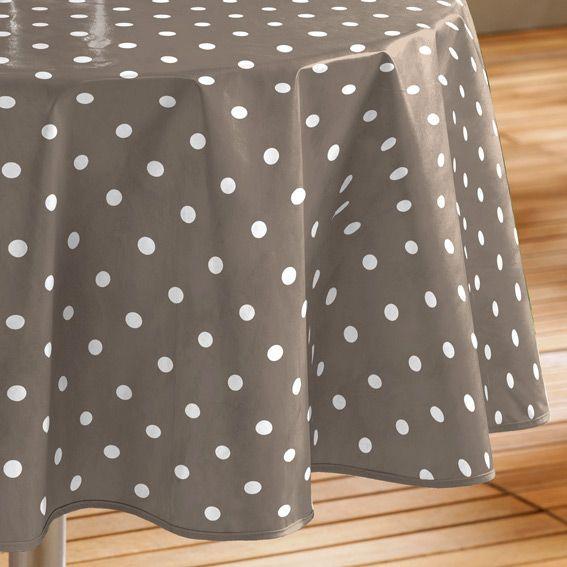 nappe cir e ronde d160 cm lollypop taupe linge de table eminza. Black Bedroom Furniture Sets. Home Design Ideas
