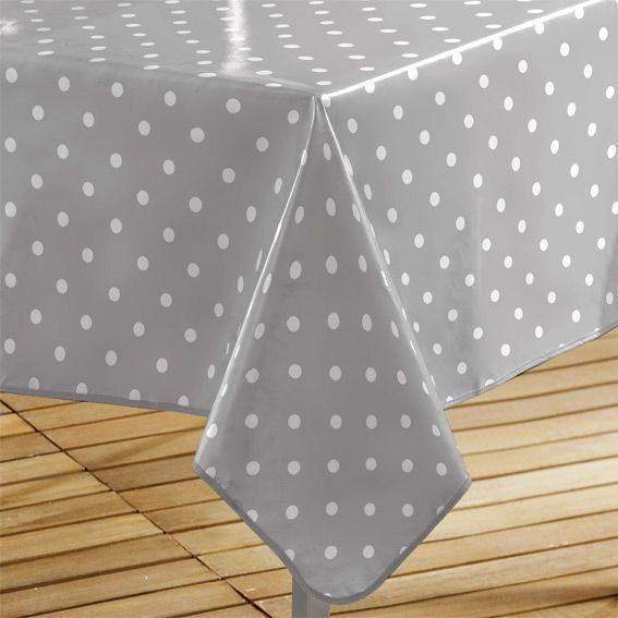 nappe cir e rectangulaire l240 cm lollypop gris linge de table eminza. Black Bedroom Furniture Sets. Home Design Ideas