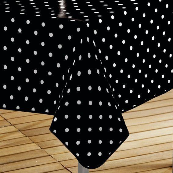 nappe cir e rectangulaire l240 cm lollypop noir linge. Black Bedroom Furniture Sets. Home Design Ideas
