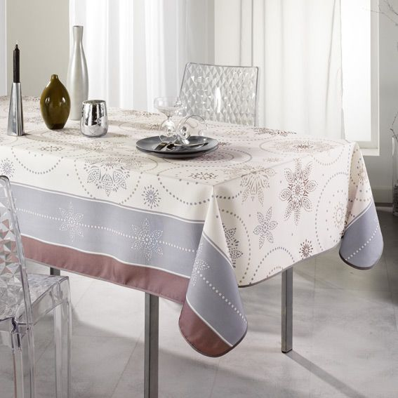 nappe rectangulaire l240 cm astree beige linge de table eminza. Black Bedroom Furniture Sets. Home Design Ideas