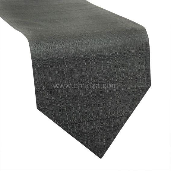 chemin de table trendy gris anthracite chemin de table eminza. Black Bedroom Furniture Sets. Home Design Ideas