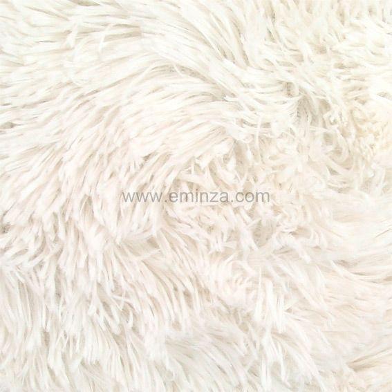 Coussin fausse fourrure 40 cm marmotte ecru coussin et housse de coussin eminza - Coussin fausse fourrure blanc ...