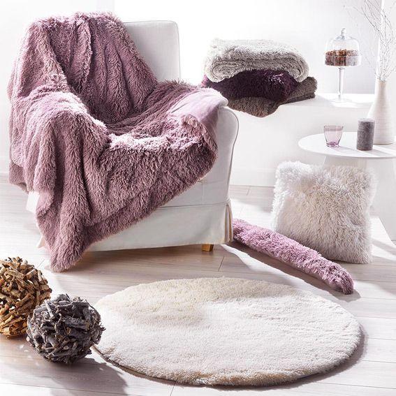 Tapis rond marmotte aubergine tapis de chambre salon for Chambre gris et aubergine
