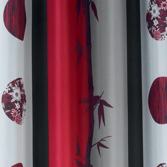 rideau 140 x h260 cm san rouge rideau tamisant eminza. Black Bedroom Furniture Sets. Home Design Ideas