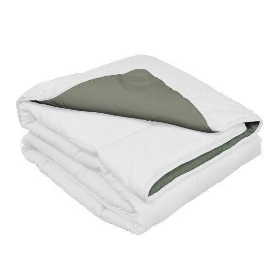 couette 240 cm bicolore demi saison blanc couette eminza. Black Bedroom Furniture Sets. Home Design Ideas